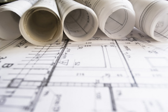 Plans and blueprints for interior design of home