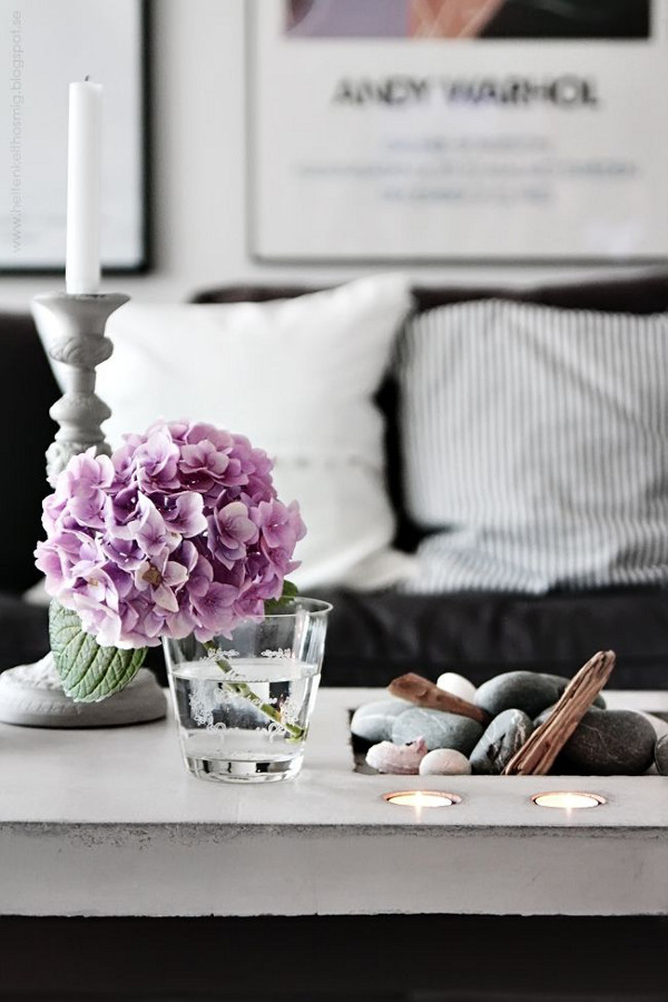 Flowers can create a visual impact in interior room designs