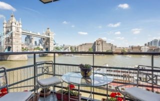 Luxury interior designer project for this Shad Thames apartment with superb Thames River views